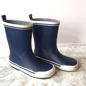 RAINBOOTS Navy Blue with White Stripes Size 12